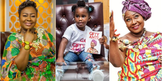 Adorable Photo of Gifty Anti's 3-year-old Daughter Selling Her Book Surfaces 1