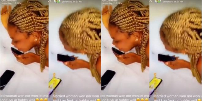 Side Chic call the wife of her sugar Daddy to insult her and vow not to leave her husband (video) 1