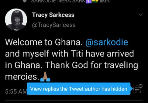 Sarkodie And Family Finally Land In Ghana - Rumored to have welcomed a new child 2
