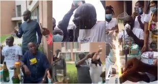 Kennedy Agyapong Bathed With Champagne At His 60th Birthday Party – Video 15