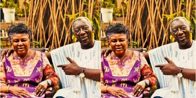 Former President John Agyekum Kuffuor and His Wife, Theresa Marks 58 Years In Marriage: Adorable Photos Drops - Check Out 1