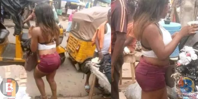 See the Lady Who Went to the Market Half Naked Just to Buy a Phone Charger 1