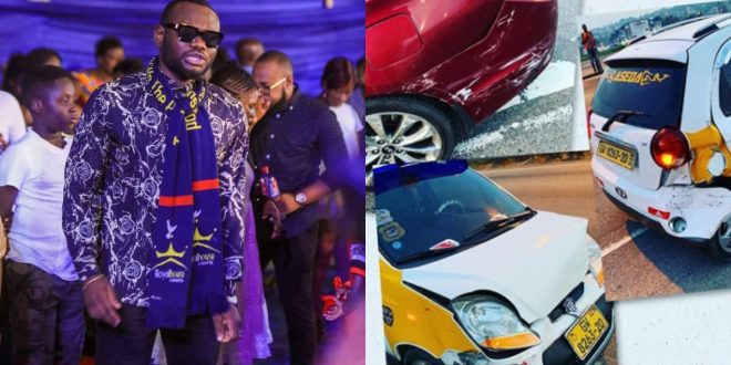 Actor Prince David Osei Survives A Very Fatal Accident - Photos 1
