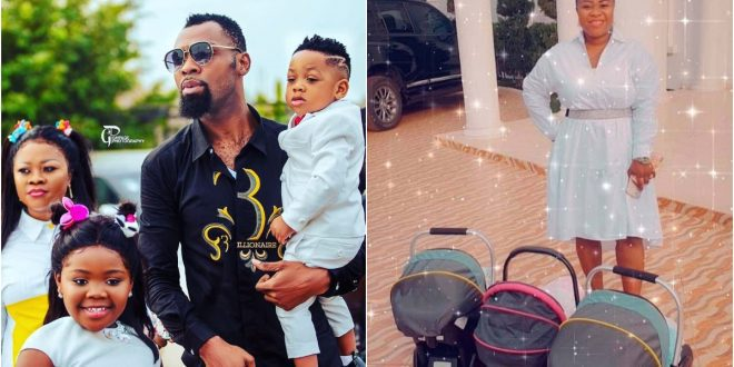 First photos of Obofour's wife, Queen Ciara newborn triplet hit online 1