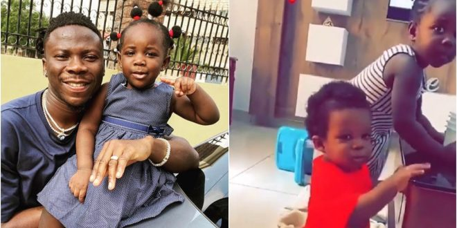 Dr. Louisa Shares rare Video Of Stonebwoy On Daddy Duties and Ghanaians Are Loving It. 1