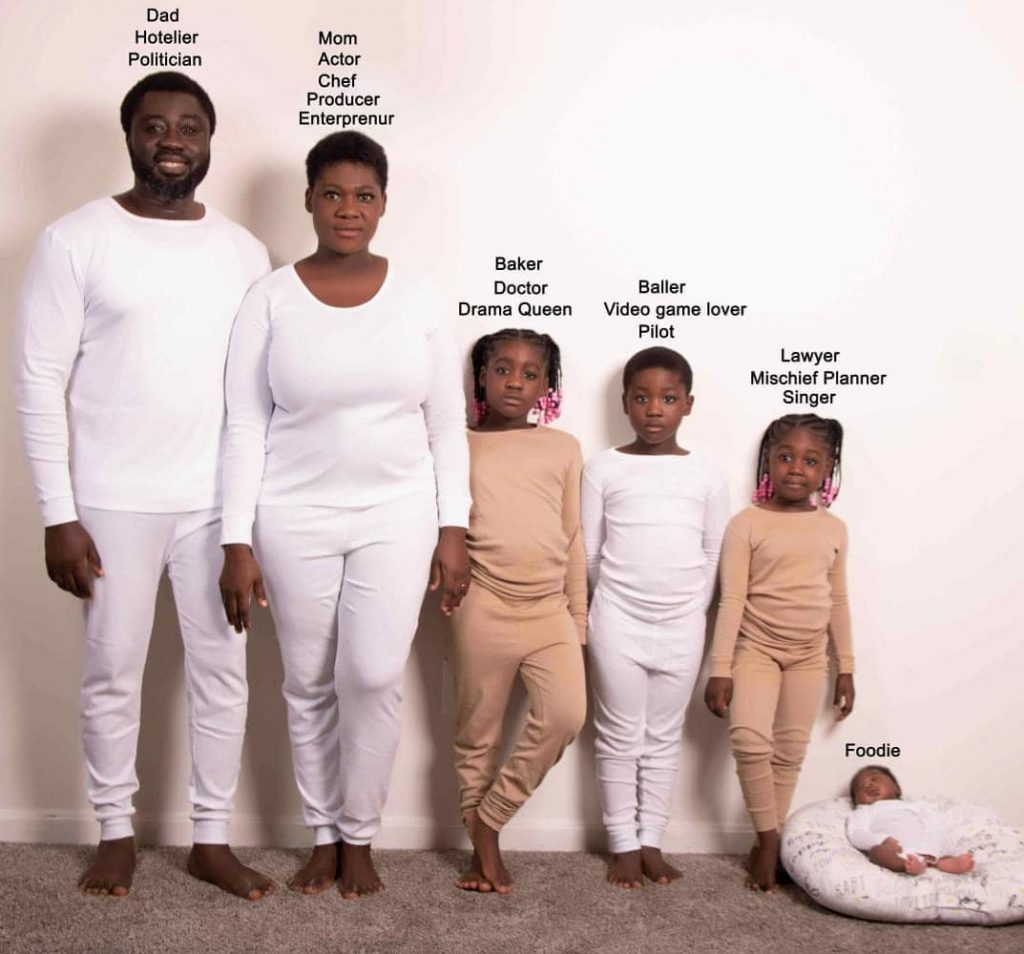 Mercy Johnson Reveals Her Family's Career Paths In An Adorable Family Tree Photo - Photo 2