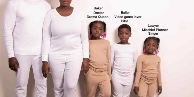Mercy Johnson Reveals Her Family's Career Paths In An Adorable Family Tree Photo - Photo 1