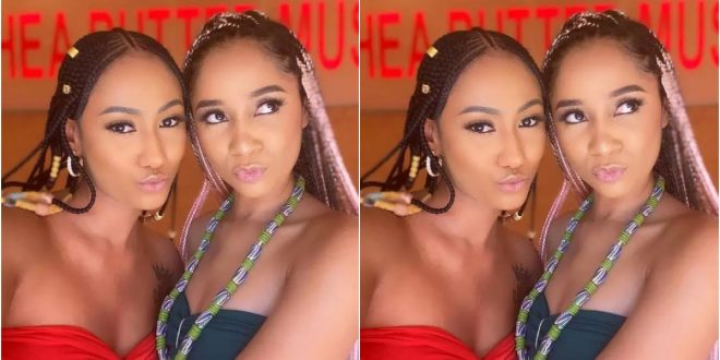 Fans Get Confused As Hajia4Real And Sister Derby Perfectly Twins Up In New Photo - Check Out 1