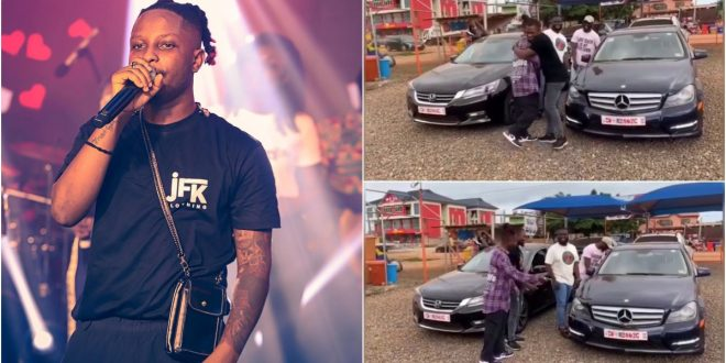 Kelvyn Boy Acquires Two Cars, New Benz And A Honda For His Boys - Video 1