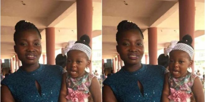 SAD! 3-Year-Old Girl Who Was Stabbed With His Pregnant Mother By Armed Robbers Dies In Kumasi - Photos 1