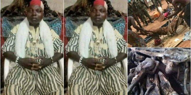 Police discover thousands of human skeletons and buried babies from a shrine of Togolese money ritualist - Photos 1