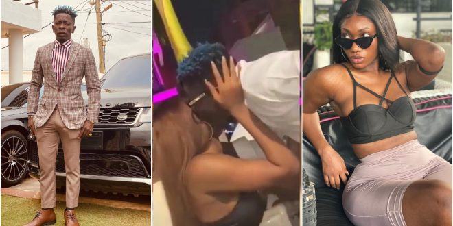 OMG! Video Of Wendy Shay And Shatta Wale Passionately Kissing Hit The Internet - Watch 1