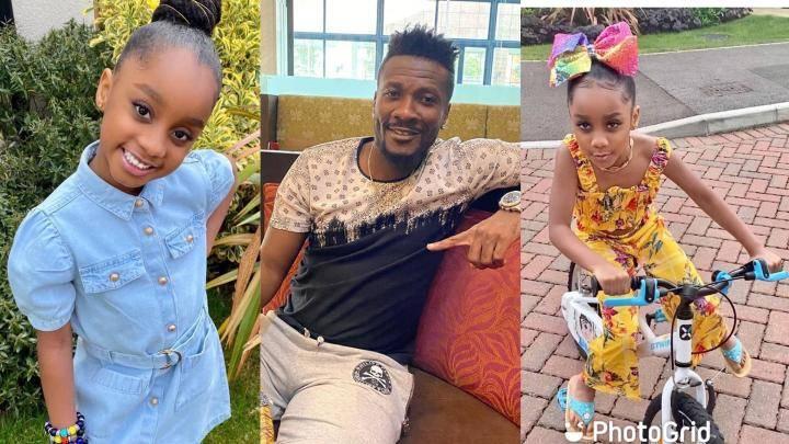 Asamoah Gyan and daughter