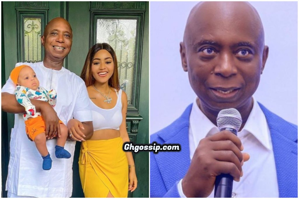 Ned Nwoko Is Bleaching – Fans React to Regina Daniels' new picture with her Husband 2