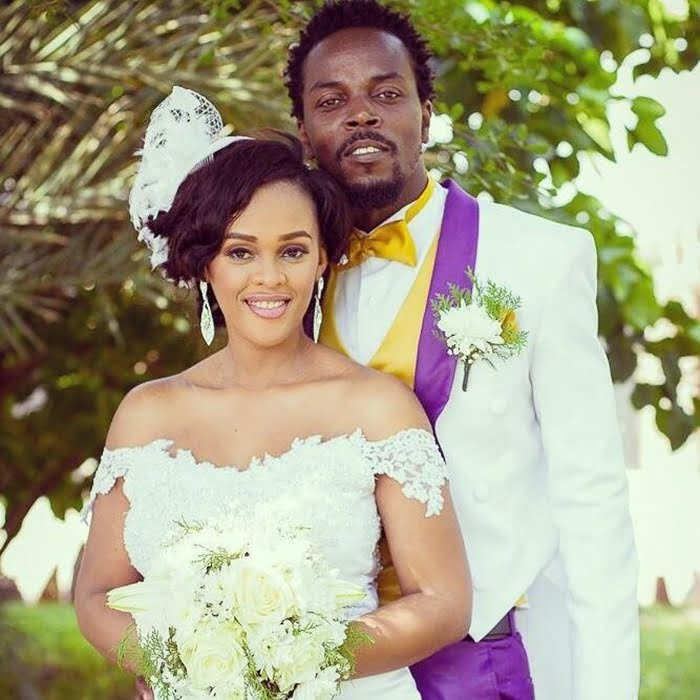 Kwaw Kese and wife on their wedding day