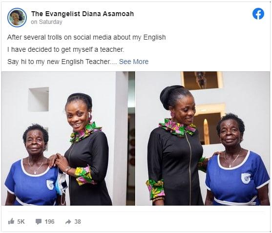 Diana Asamoah Flaunts Her New Found English Teacher 2