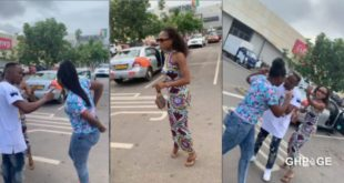 Unknown lady clashes with Akuapem Poloo for allegedly snatching her husband 93