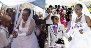 See Throwback Wedding Photos Of The 9-Year-old Boy Who Married A 62 Years Old Woman 58