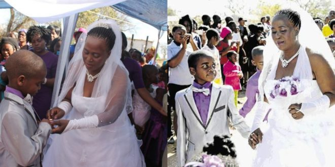 See Throwback Wedding Photos Of The 9-Year-old Boy Who Married A 62 Years Old Woman 1