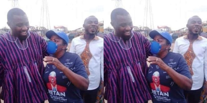 John Dumelo meets Madam Lydia Alhassan; it was all fun and love 1