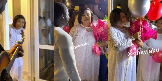 Empress Gifty Osei Cries On Her Birthday After Husband Surprises Her Big Time | Video 1