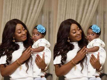 Ini Edo flaunts new baby