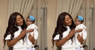 Ini Edo Flaunts An Adorable Newborn in social media 100