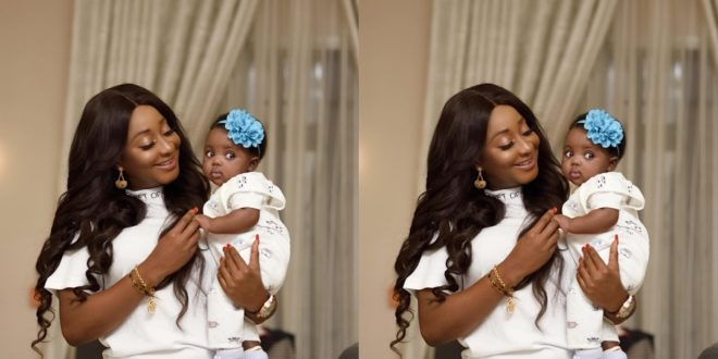 Ini Edo Flaunts An Adorable Newborn in social media 1