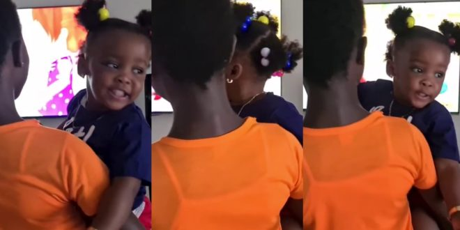 Like Mother Like Daughter: Watch As Baby Maxin Adorably Sings In New Video 1