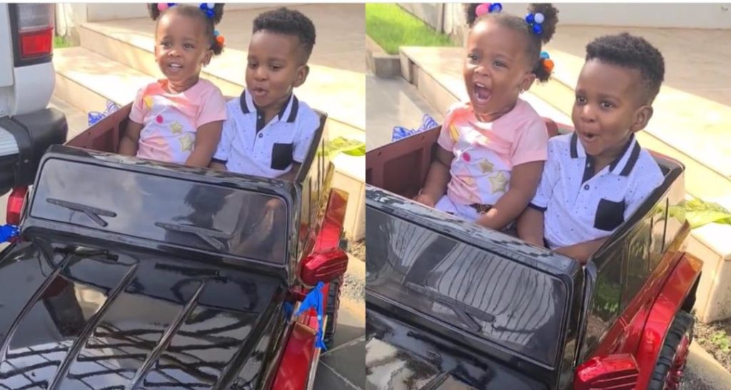 Baby Maxin Joins Dumelo Jnr To Celebrate His Birthday