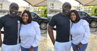Mercy Johnson shows love for Her husband as she gashes over him 96