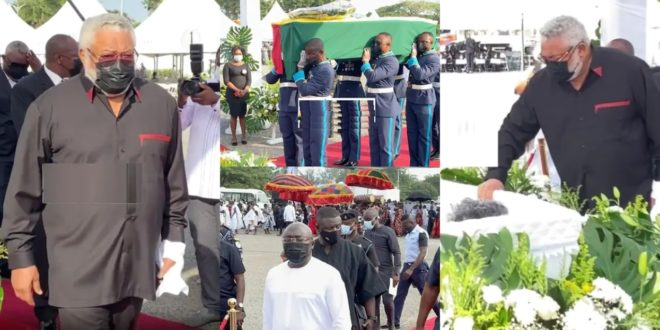 JJ Rawlings' Daughter, Amina Gives Birth - Reason for her absence at granny's funeral 1