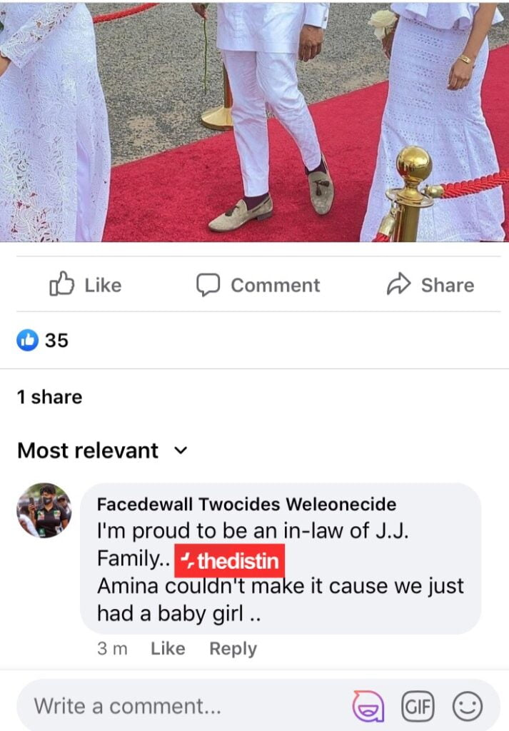 JJ Rawlings' Daughter, Amina Gives Birth - Reason for her absence at granny's funeral 2