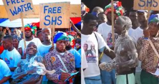 NPP man baths in public to thank Akufo-Addo for free water supply 70