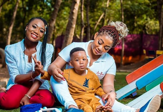 Vicky zugah and family