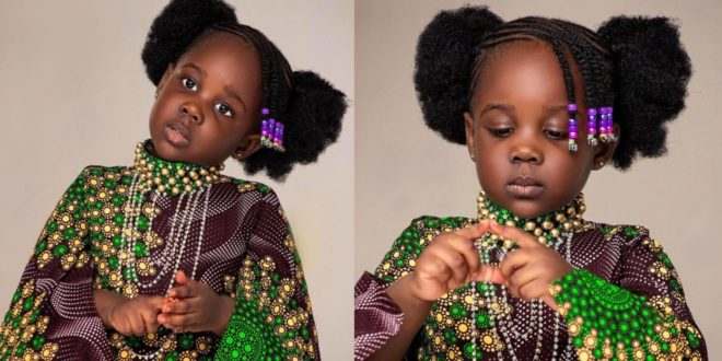 Stonebwoy's daughter Catherine Jidula Satekla looks adorable in new photos 1