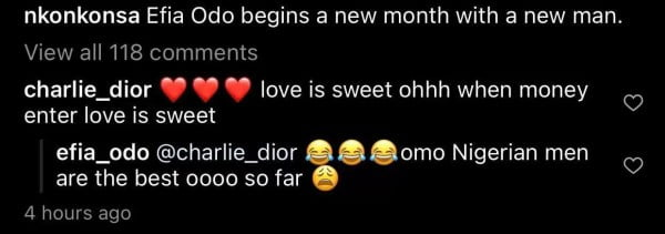 Nigerian men are the best – Efia Odo says as she flaunts new lover 3