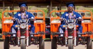 Kofi Adjei Fosu – Tricycle rider graduates UCC as Best Law of Taxation Student 123