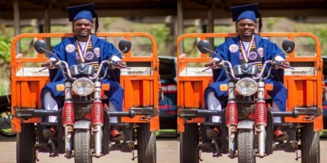 Kofi Adjei Fosu – Tricycle rider graduates UCC as Best Law of Taxation Student 1