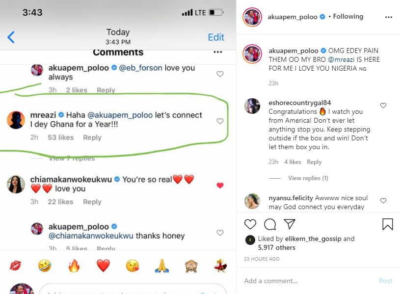 Akuapem Polo shakes her 'nyash' after mr. Eazi told her he will get in touch soon (video). 2
