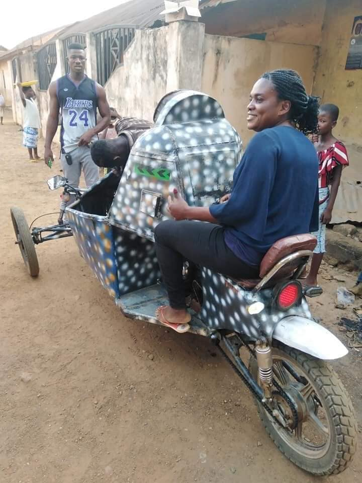 Teenage Boy in Oti Region Goes viral for inventing an Impressive Vehicle (photos). 3
