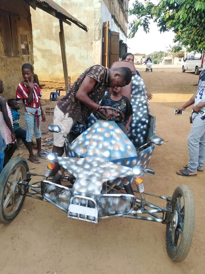 Teenage Boy in Oti Region Goes viral for inventing an Impressive Vehicle (photos). 2