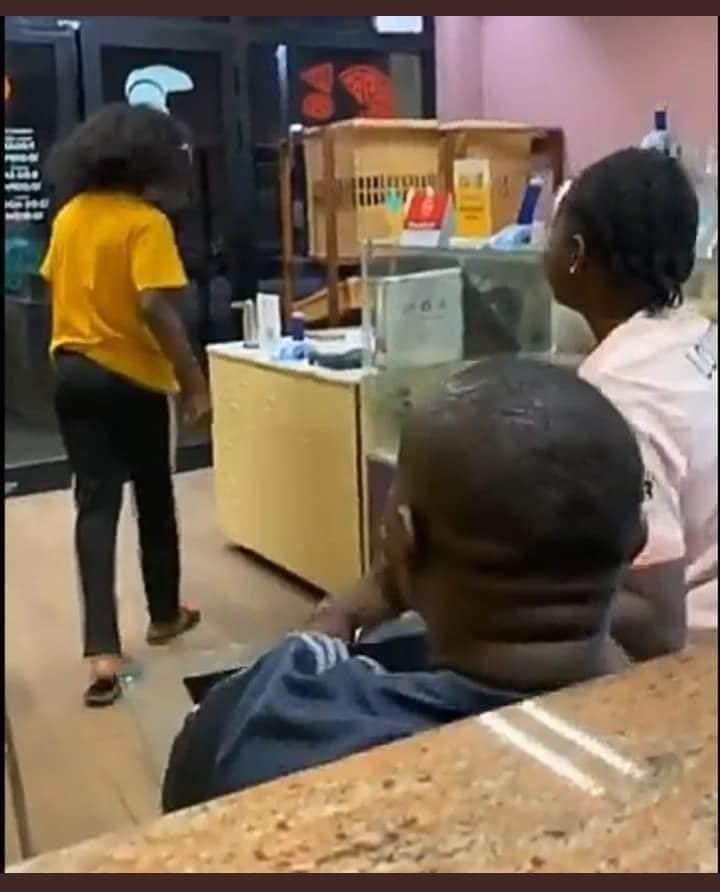 Jealous boyfriend takes back the wig he bought for his girlfriend after he found her cheating. 2