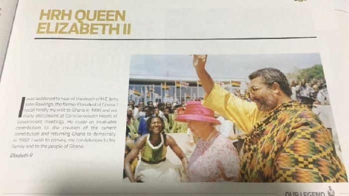 """Rawlings made an invaluable contribution to the Democracy of Ghana""- Queen Elizabeth. 2"