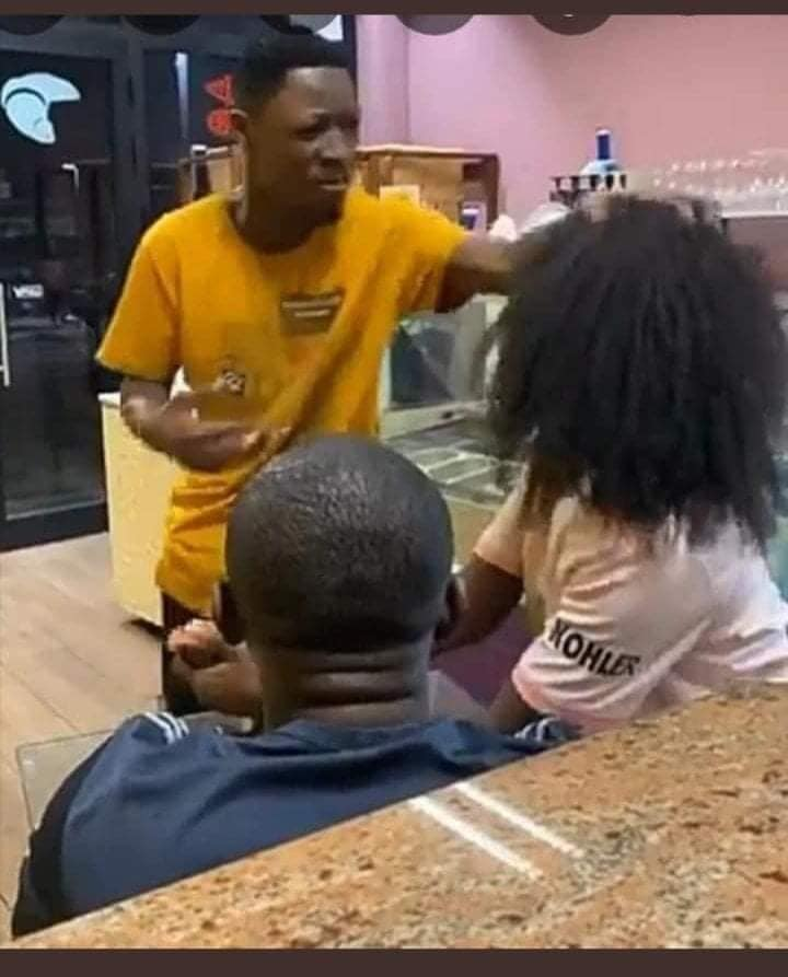 Jealous boyfriend takes back the wig he bought for his girlfriend after he found her cheating. 3