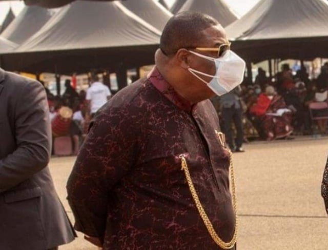 Archbishop Duncan Williams spotted wearing two nose mask at Rawlings Funeral 2