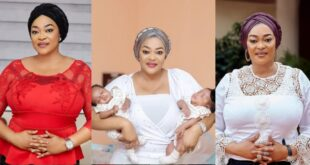 Actress Kalsoume Sinare For The First Time Shows Her Twins in new photos 24