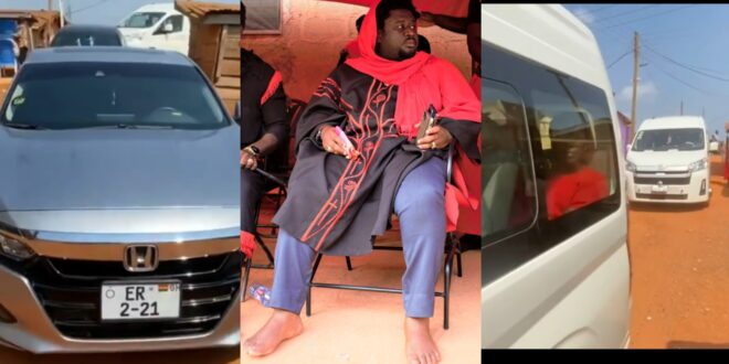 Bishop AjaguraJah Flaunts his fleets of expensive cars in a new video. 1