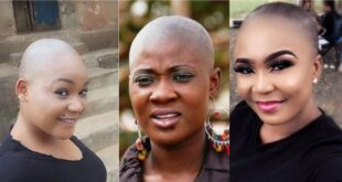 See photos of Nollywood actresses who looks beautiful with bald hair 77