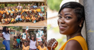 Afia Pokua donates learning materials to children in Village as school re-opens - Photos 4